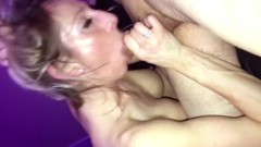 Horny Housewife Blowjob and Double Creampie Spitroast — XXX Cumplay