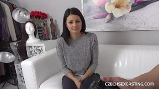 amazing brunette getting pounded on the casting couch
