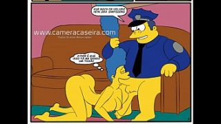 cartoon porn comic parody the simpsons sex with the cop