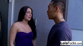 Cute Lola gets a great fuck session from Asian hunk Keni