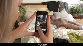 filf bff sees dads big cock while he naps