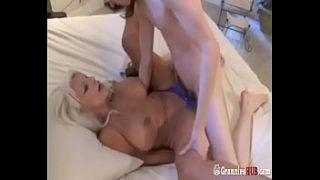 hot gilf sexy auntie blonde f. a young nephew boy to fuck her