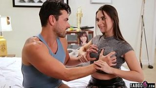 stepsister helps her loser stepbro with his virginity