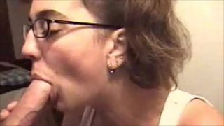 Sucking my 4th cock of the night at a party