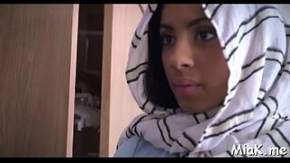 Arab babe with big billibongs prepares for having sex with her fuckmate
