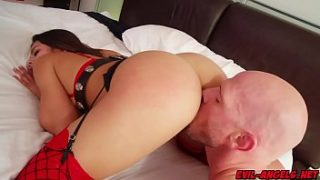 Autumn Falls loving that huge cock as it rams her from behind