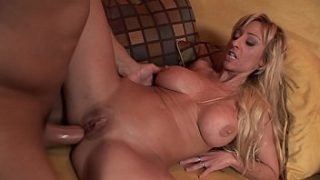 Big dick dude with a tattoo gets a blowjob before giving hard anal fuck to slut Regan Anthony