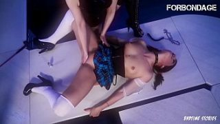 FORBONDAGE – College Girl Ariana Love Gets a. And Deep Pussy Fisted By Lesbian Mistress