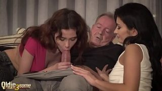 He fucks them and cums in their mouths after a party night