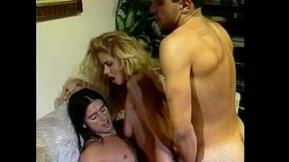 Horny blonde gets both holes stretched by huge cocks