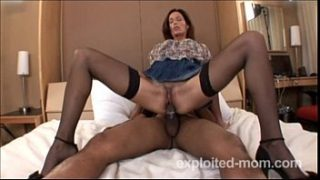 Hot amateur milf banging black cock in Mature Pussy Video
