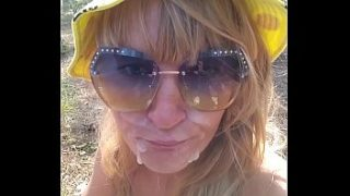 Kinky Selfie – Quick fuck in the forest. Blowjob, Ass Licking, Doggystyle, Cum on face. Outdoor sex