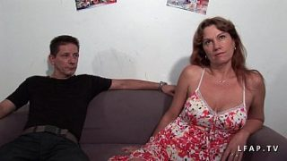 libertine milf double penetrated in a gangbang with s. guy