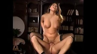 Lusty asian Kirsty Lee in lingerie has amazing breasts and rides white cock