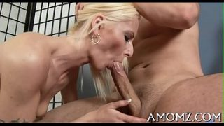 Mommy deepthroats and gives a ride
