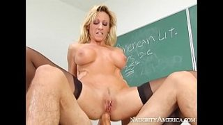 Naughty America – Find Your Fantasy Regan Anthony fucking in the classroom with her tits