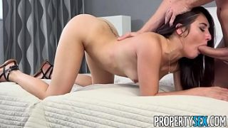 PropertySex – Hot tenant with no cash fucks her new landlord