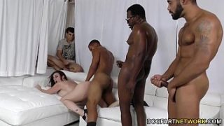 sara jay gets ganbanged by black dudes in front of her s.