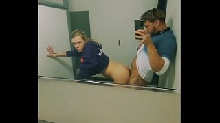 Snuck Barely Legal Teen Blonde into BLM Club and Fucked Her in the Women's Bathroom