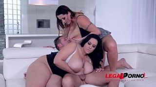 top heavy babes laura orsolya and anastasia lux titty fucked and cum all over gp445